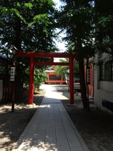 L'entrée du temple shintoïste