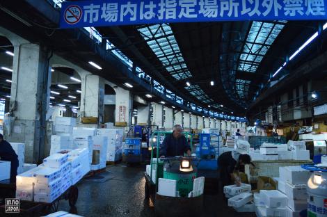 Arrivée à Tsukiji