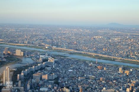 Vue de Tokyo par la Skytree